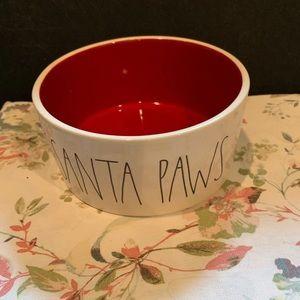 Santa paws dog bowl